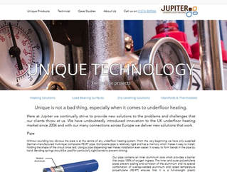 Jupiter Underfloor Heating Website